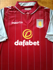 2014/15 Aston Villa Home Football Shirt (L)