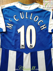 2005/06 Wigan Athletic Home Premier League Football Shirt McCulloch #10 (L)