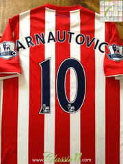 2015/16 Stoke City Home Premier League Football Shirt Arnautović #10 (M)
