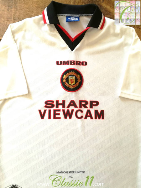 00dbfd781 1996/97 Man Utd Away Old Vintage Football Shirt / Retro Soccer ...