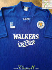 1992/93 Leicester City Home Football Shirt (S)