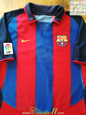 2003/04 Barcelona Home La Liga Football Shirt (L)