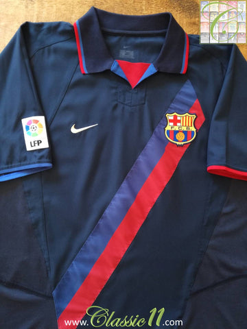 2002/03 Barcelona Away La Liga Football Shirt (L)