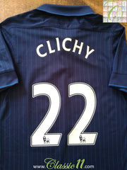 2009/10 Arsenal Away Premier League Football Shirt Clichy #22 (S)