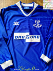 1999/00 Everton Home Football Shirt. (XL)