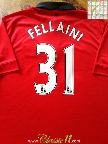 2013/14 Man Utd Home Premier League Football Shirt Fellaini #31 (L)