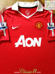 2010/11 Man Utd Home Premier League Football Shirt (L)