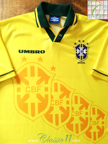 1994/95 Brazil Home Football Shirt (XL)