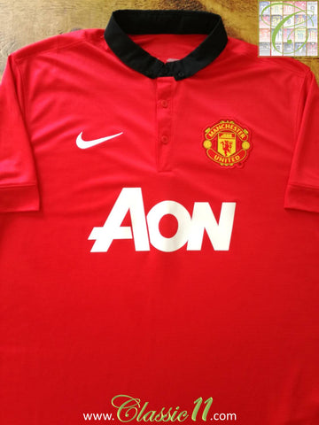 2013/14 Man Utd Home Football Shirt (S)