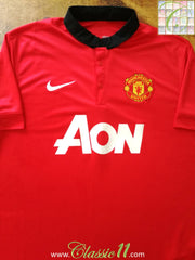 2013/14 Man Utd Home Football Shirt (M)