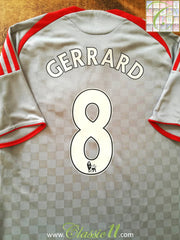 2008/09 Liverpool Away Premier League Football Shirt Gerrard #8 (L)