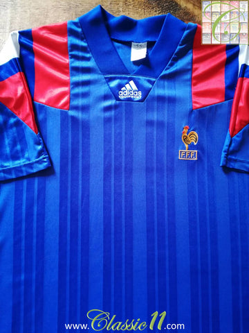 1992/93 France Home Football Shirt (L)