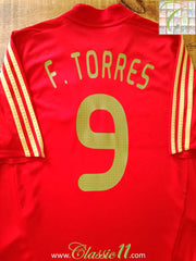 2008/09 Spain Home Football Shirt Torres #9 (L)