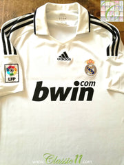 2008/09 Real Madrid Home La Liga Football Shirt (S)
