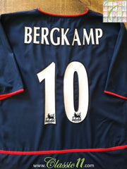 2002/03 Arsenal Away Premier League Football Shirt Bergkamp #10 (XXL)