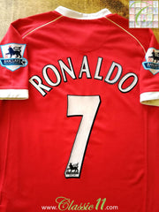 2006/07 Man Utd Home Premier League Football Shirt Ronaldo #7 (S)