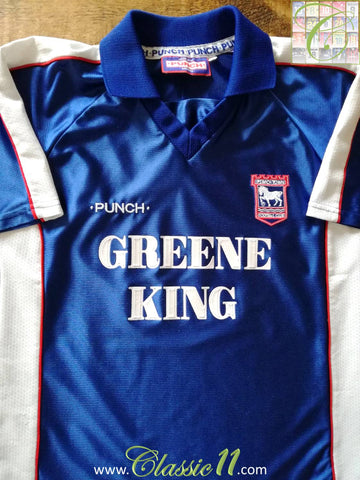 1999/00 Ipswich Town Home Football Shirt (S)