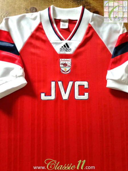 competitive price 2ff6e f4a31 1992/93 Old Vintage Arsenal Home Football Shirt / Adidas ...