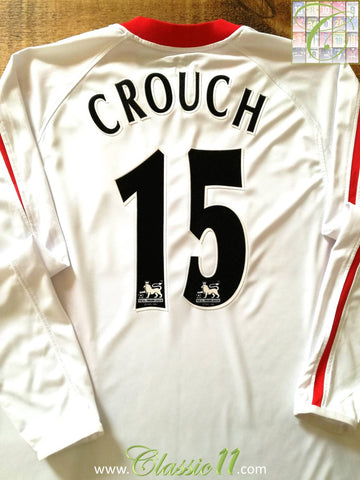 2005/06 Liverpool Away Premier League Football Shirt Crouch #15 (L)