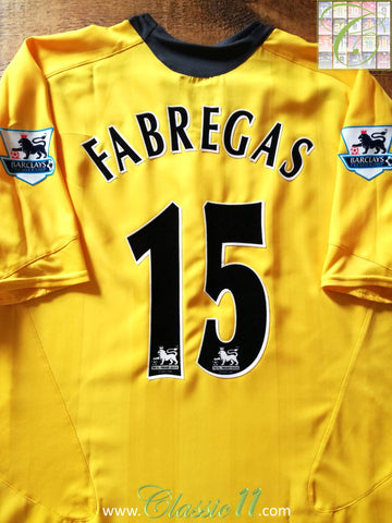 2005/06 Arsenal Away Premier League Football Shirt Fabregas #15 (L)