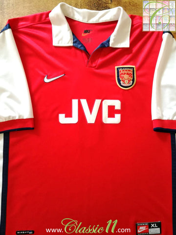 1998/99 Arsenal Home Football Shirt (XL)