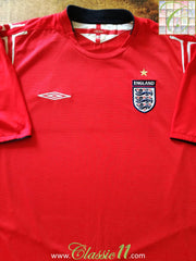 2004/05 England Away Football Shirt (Size 16) (M)