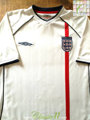 2001/02 England Home Football Shirt (M)