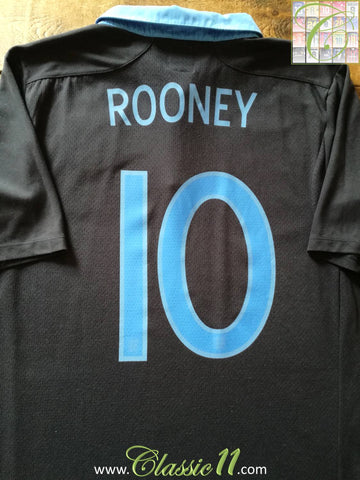 2011/12 England Away Football Shirt Rooney #10 (XL)