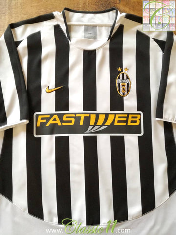 2003/04 Juventus Home Football Shirt (XL)