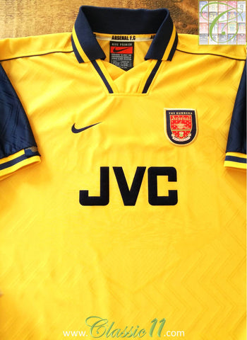 1996/97 Arsenal Away Football Shirt (L)