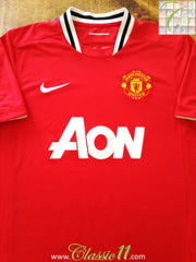 2011/12 Man Utd Home Football Shirt (L)