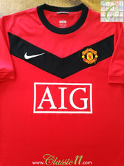 2009/10 Man Utd Home Football Shirt (M)