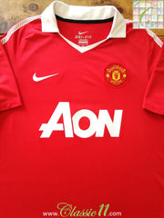 2010/11 Man Utd Home Football Shirt (XL)