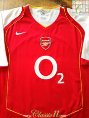 2004/05 Arsenal Home Football Shirt (XL)