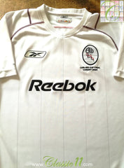 2003/04 Bolton Wanderers Home Carling Cup Final Football Shirt (S)