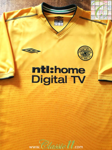 2002/03 Celtic Away Football Shirt (XL)