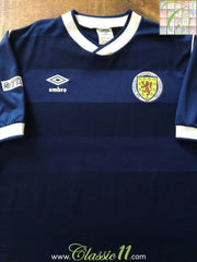1985/86 Scotland Home Football Shirt (S)