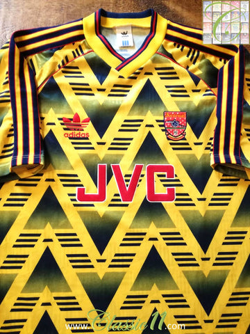 1991/92 Arsenal Away Football Shirt (XL)