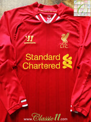 2013/14 Liverpool Home Football Shirt. (S)