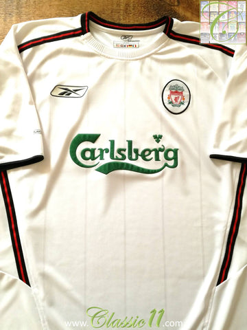 2003/04 Liverpool Away Football Shirt (XXL)