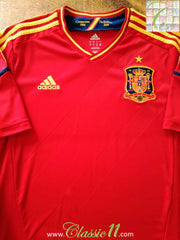 2012/13 Spain Home Football Shirt (L)