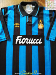 1992/93 Internazionale Home Football Shirt (XL)