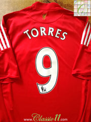 2008/09 Liverpool Home Premier League Football Shirt Torres #9 (M)