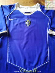 2004/05 Brazil Away Football Shirt (M)