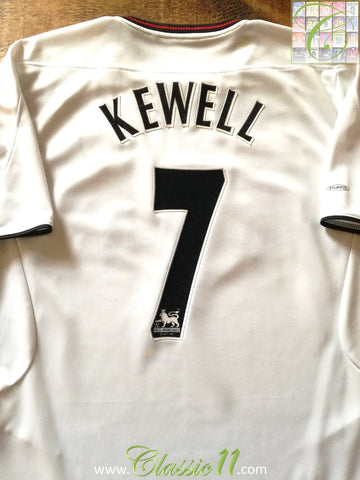 2003/04 Liverpool Away Premier League Football Shirt Kewell #7 (M)
