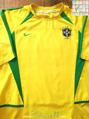 2002/03 Brazil Home Player Issue Football Shirt (XL)
