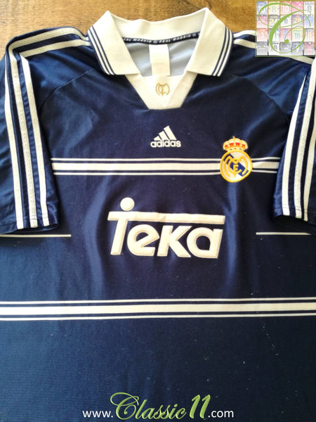41ae72b56 1998 99 Real Madrid Away Classic Football Shirt  Vintage Soccer ...