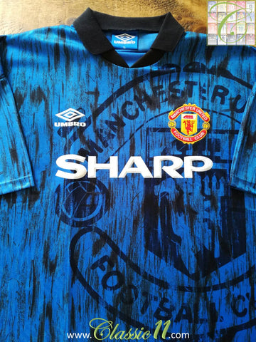1992/93 Man Utd Away Football Shirt (L)