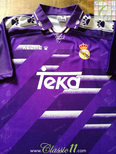 80fccd146 1994/95 Real Madrid Away La Liga Football Shirt / Retro Soccer ...