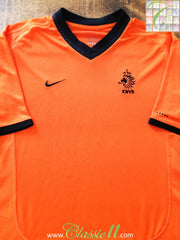 2000/01 Netherlands Home Football Shirt (B)